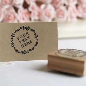 Customised 'Free Text' Rubber Stamp - ribbon & wrap