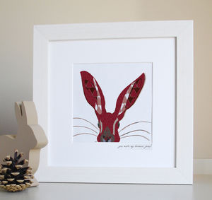Hampshire Hare Love Giclee Print - posters & prints