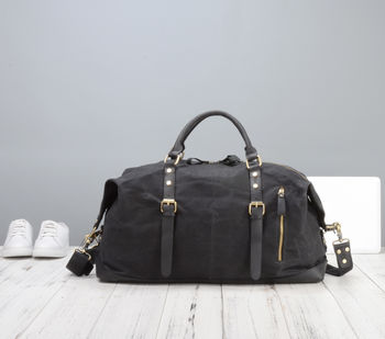 Handmade Waxed Canvas Travel Bag