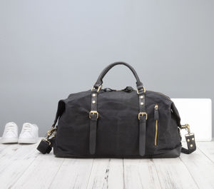 Handmade Waxed Canvas Travel Bag - 18th birthday gifts