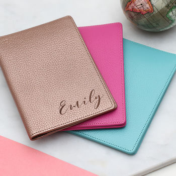 Personalised Luxury Leather Travel Document Holder