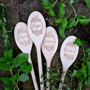 Set Of Personalised Plant Markers