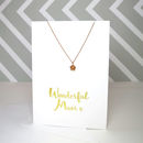 'Wonderful Mum' Card And Necklace