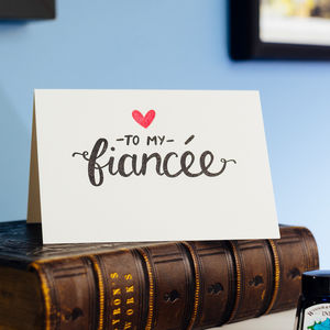 To My Fiancée Letterpress Card