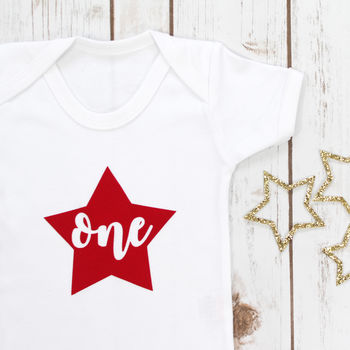 First Birthday Star Babygrow