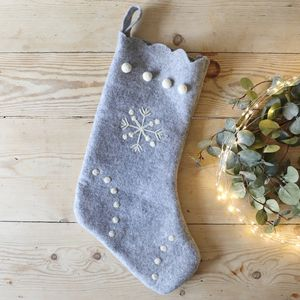 Grey Felt Christmas Stocking - our top new picks
