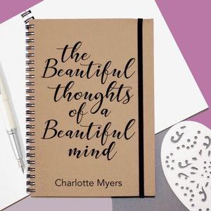 'Beautiful Mind' Personalised Notebook - gifts for her