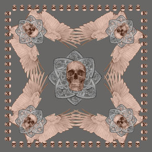 Scull Print Scarf - for sisters