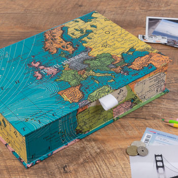 Personalised World Map Travel Keepsake Box