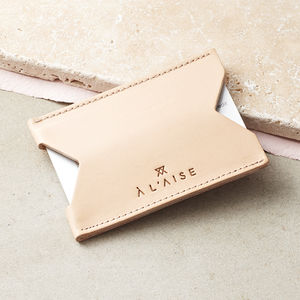 Single Card Case, Natural - gifts for her