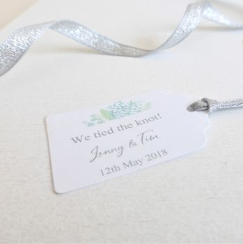 'We Tied The Knot' Wedding Favour Tags