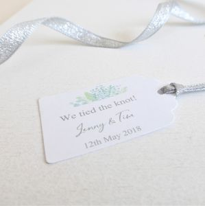 'We Tied The Knot' Wedding Favour Tags - wedding favours