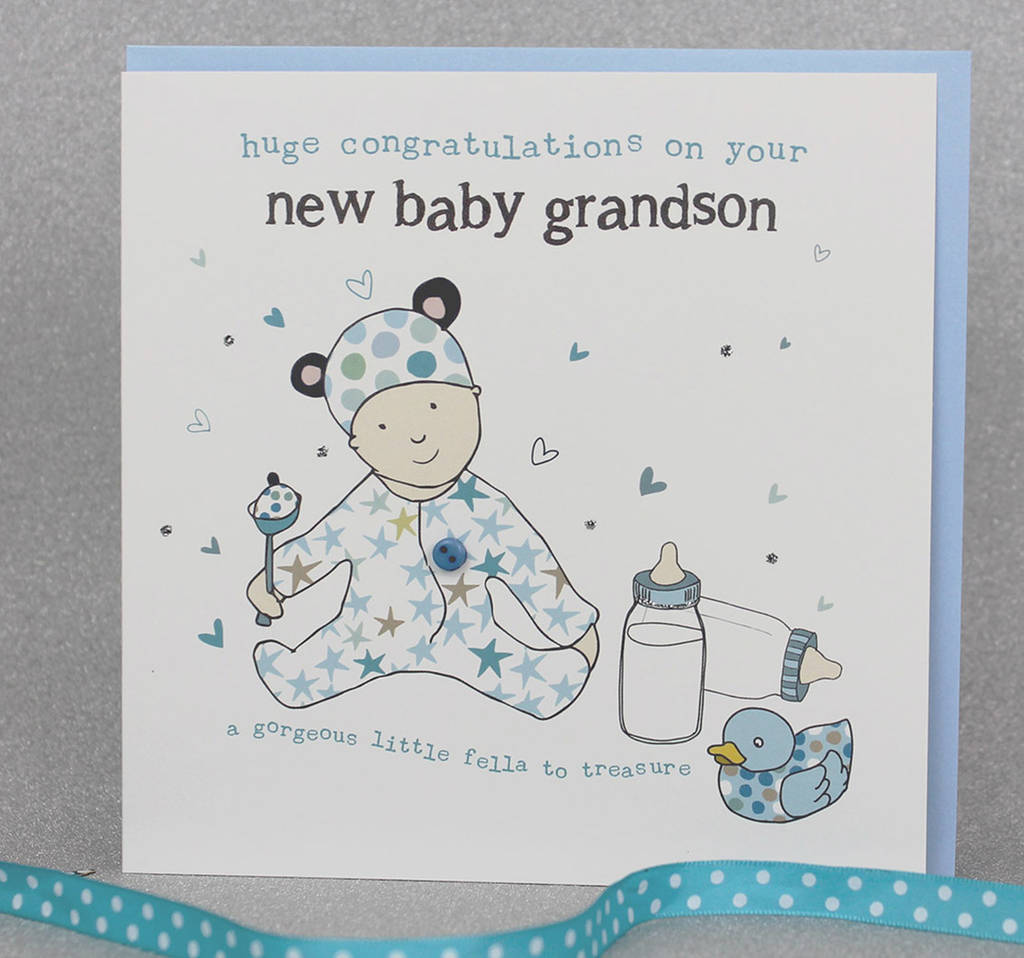 New Baby Grandson Or Granddaughter Card By Molly Mae
