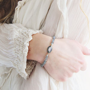 Labradorite, Moonstone And Diamond Bracelet - bracelets & bangles