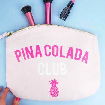 'Pina Colada Club' Make Up Bag