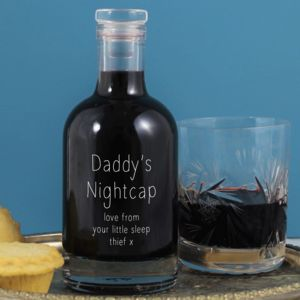 'Daddy's Nightcap' Personalised Glass Bottle - drinks connoisseur