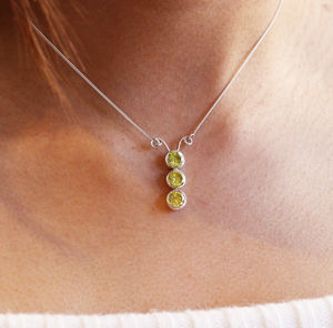 Sterling Silver Caterpillar Necklace