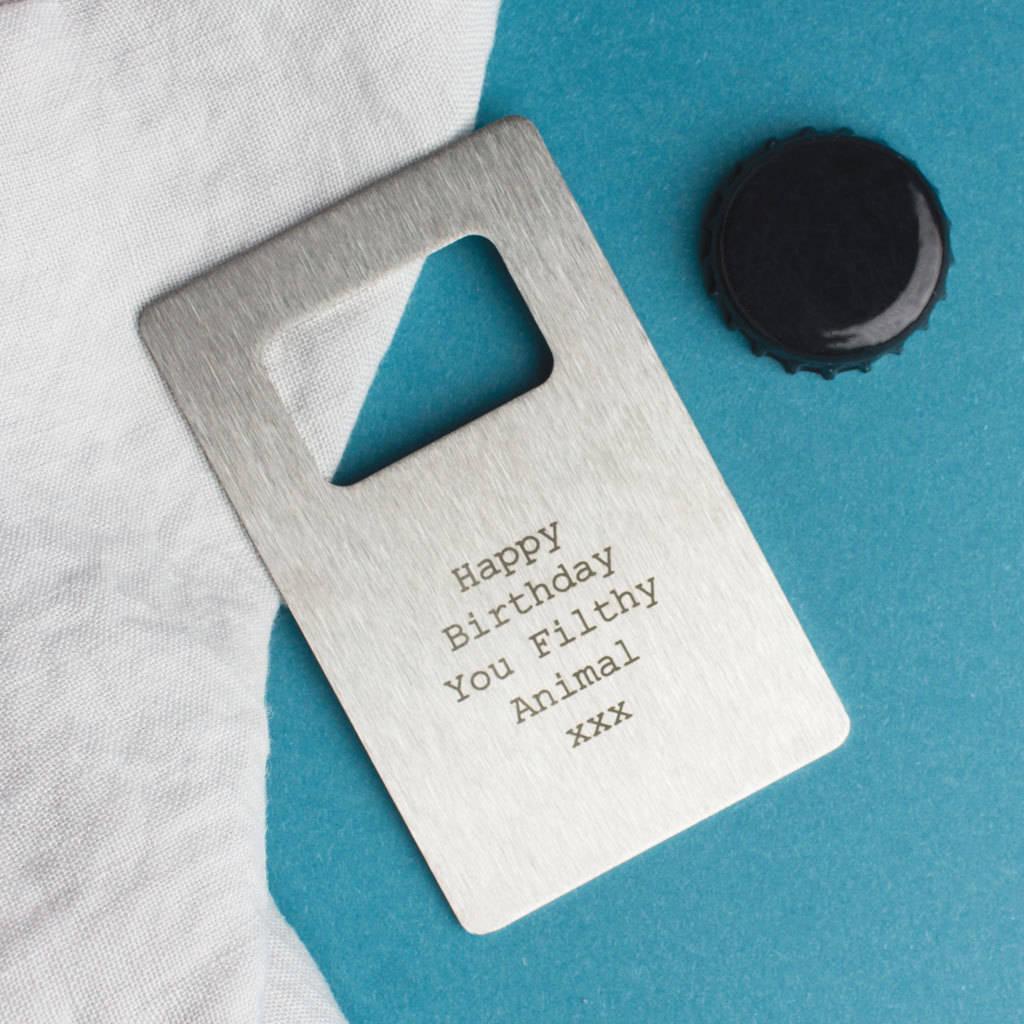 personalised wallet card bottle opener by create gift love. Black Bedroom Furniture Sets. Home Design Ideas
