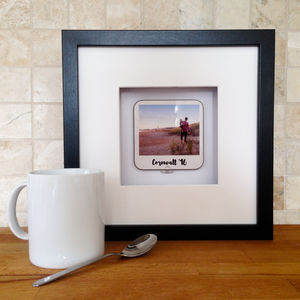 Personalised 3D Polaroid Coaster In A Frame