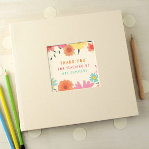 Personalised Floral Thank You Teacher Message Book