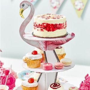Flamingo Cake Stand - baking
