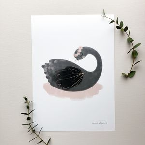 Black Swan Lake Children's Art Print