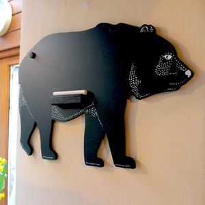 Bear Chalkboard - kitchen