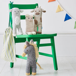 Farmyard Friends Soft Knitted Toys Set