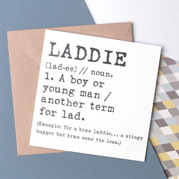 Scottish 'Laddie' Funny Card