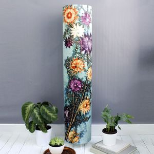 Artistic Green Floral Botanical Meter High Floor Lamp