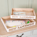 French Country White Wooden Letter Tray Selection