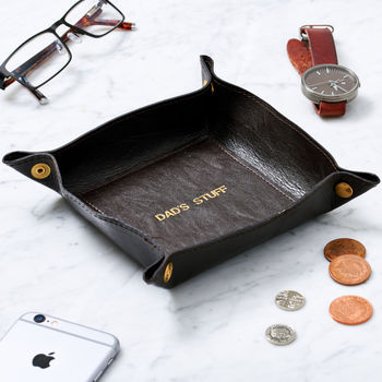 Personalised Leather Desk Tidy
