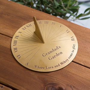 Personalised Copernicus Brass Sundial - 50th anniversary: gold