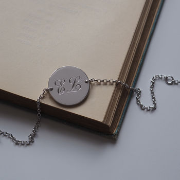 Double Initial Bracelet In Sterling Silver