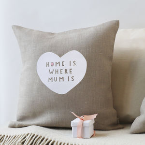 'Home Is Where Mum Is' Linen Cushion - what's new