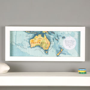 Personalised Australia Hand Drawn Map Print - posters & prints