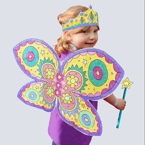 Colour In Fancy Dress Set Fairy *With Free Gift - gifts for children