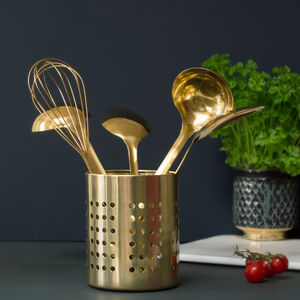 Gold Utensil Holder - utensil holders