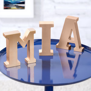 Gold Freestanding Letters - room decorations