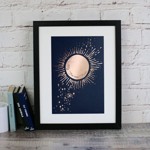 My Sun And Stars Print In Rose Gold - typography