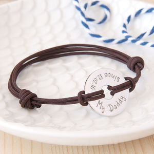 Father's Personalised Open Disc Bracelet