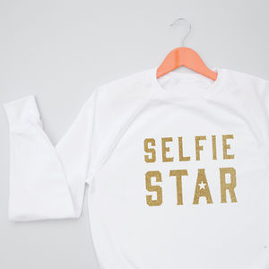 Selfie Star Young Adult Christmas Jumper Sweatshirt - christmas jumpers