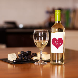 Love Heart 'Mum' White Wine