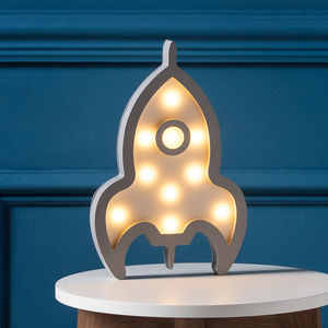 Rocket Battery LED Night Light - children's lighting