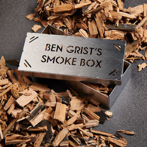 Personalised Bbq Whisky Oak Smoking Box Kit - personalised