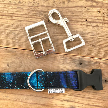 Galaxy Cotton Dog Collar