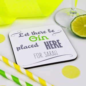 Personalised Gin Coaster - tableware