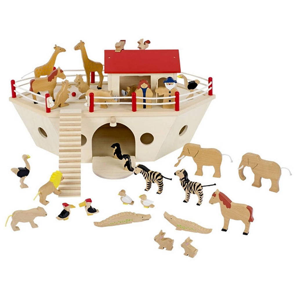 Personalised Wooden Noahs Ark With Two Size Options