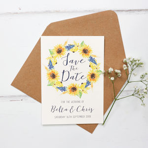 Sunflower Wedding Save The Date