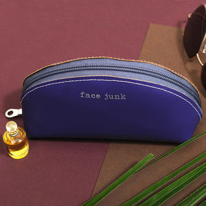 Undercover Leather Cosmetic Bag For Your 'Face Junk'